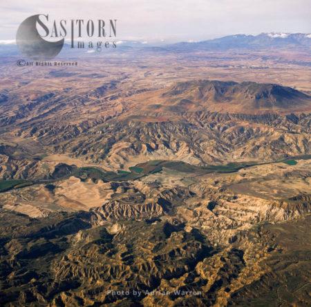 Landscape Just East Of  Embasle De Negratin (Reservoir), In Sierra Nevada National Park, Granada, Andalusia In Spain