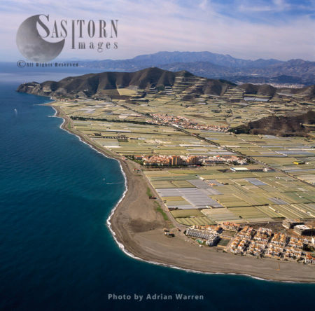Sea Of Greenhouses From Calahonda Looking West, Southern Spain