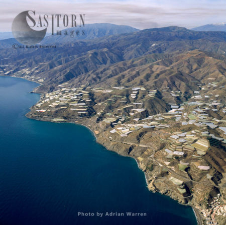 Sea Of Greenhouses, South Of Albunol, East Of Melicena, Looking West, Southern Spain
