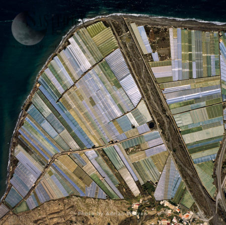 Aerial Image Of Spain: Greenhouses At El Pozuelo, Southern Spain