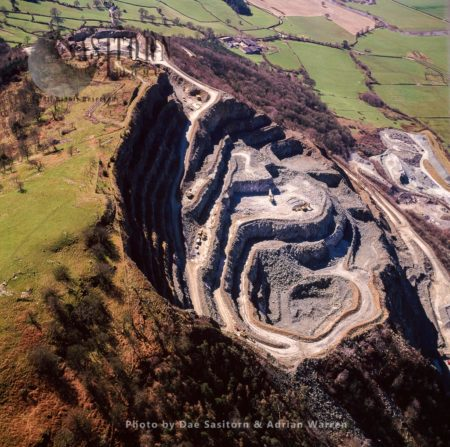 Criggion Quarry, Breidden Hills On The Mid Wales Border, Between Powys And Shropshire