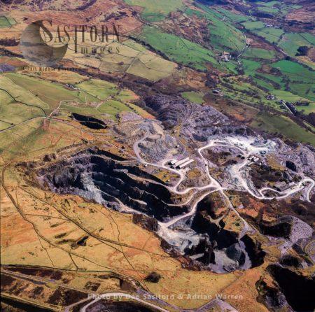 Slate Quarry In Blaenau Ffestiniog, Gwynedd, North Wales