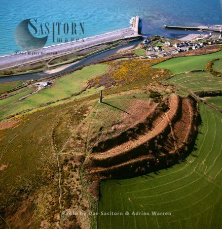 Pen Dinas, An Extenisve Iron Age, Celtic Hillfort, Village Penparcau, Ceredigion, Just South Of Aberystwyth, North Wales