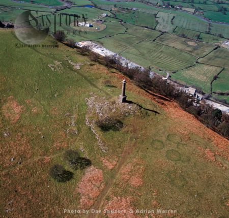 Admiral Rodney's Pillar, A Monument On Breidden Hill, Powys, Wales