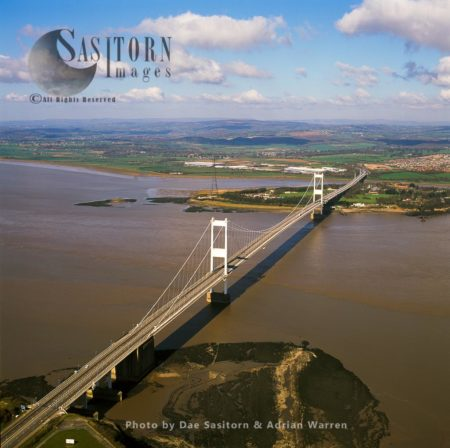 Severn Bridge, Spans The River Severn And River Wye Between Gloucestershire And Chepstow