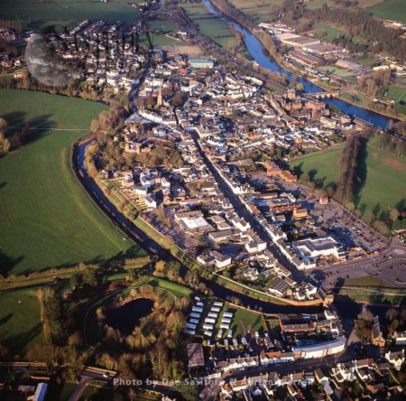 Monmouth On The River Monnow, Historic County Town Of Monmouthshire, South Wales