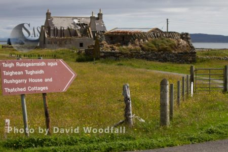 Former Crofts On Machair, Abandoned Due To Complex Factors Of Rural Depopulation And Inability To Compete With Modern Agriculture, Berneray, North Uist, Outer Hebrides