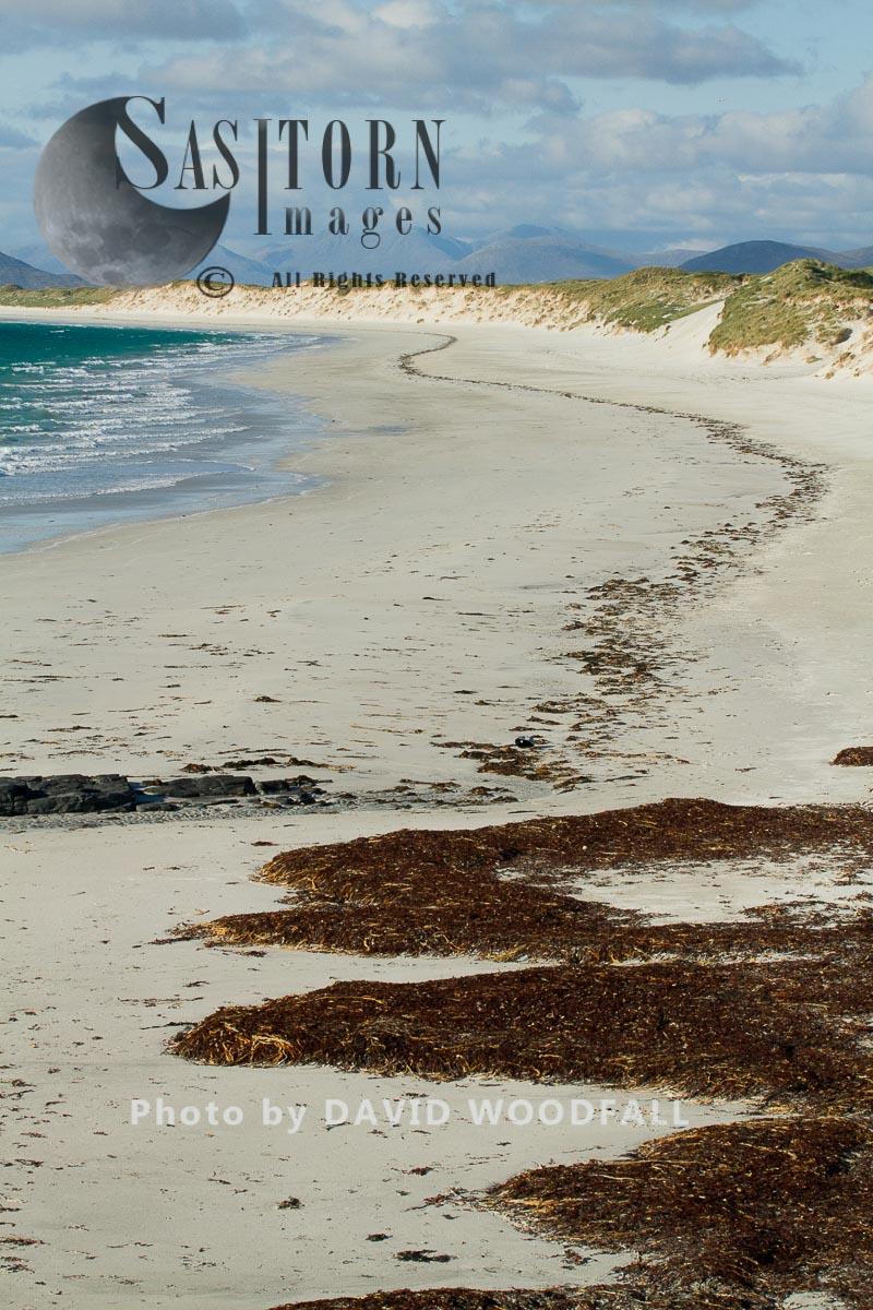 West Beach, White Beach At Low Tide, Atlantic Facing Beach. Berneray, North Uist