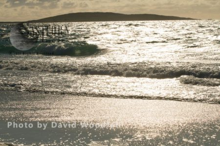 Atlantic Ocean And Island Of Berneray, North Uist, South Of Harris