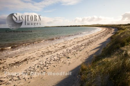 Sand Dunes And Machair And Beach With Clear Shallow Water, Ideal Feeding And Breeding Ground For Little Terns, Balranald Reserve, Island Of Berneray, North Uist, Outer Hebrides
