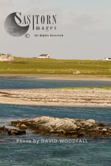 Little Terns (Sterna Albifrons) Breeding Habitat. The Clarity And Shllowness Of The Water, Ideal Habitat For Sand Eels, Prey Item For Little Tern's Feeding, Berneray, North Uist, Outer Hebrides