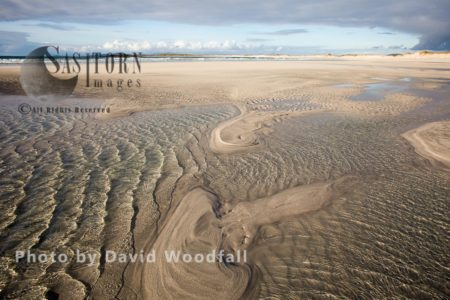 Inter Tidal Pools On Beach, Ideal Habitat For Feeding Little Terns. Berneray, North Uist, Outer Hebrides