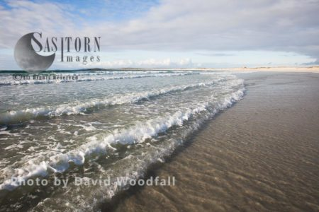 Waves Breaking On Beautiful Remote Beach, Berneray, North Uist, Outer Hebrides
