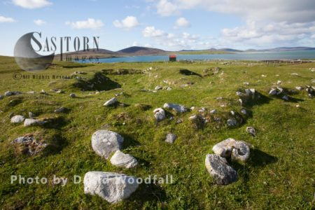 Remains Of Village Buried By Sandstorm In 17th Century On The Borve, Community Grazed Machair. Berneray, North Uist, Outer Hebrides