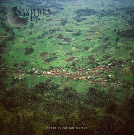 Intensive Hillside Agriculture And Settlement On Virunga Foothills, Rwanda