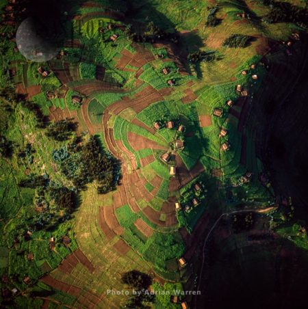 Intensive Hillside Agriculture And Concentrated Settlement On Virunga Foothills, Rwanda, Great Rift Valley, East Africa