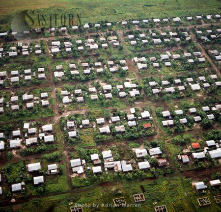 Settlements Around Virunga Foothills, Rwanda, 2003