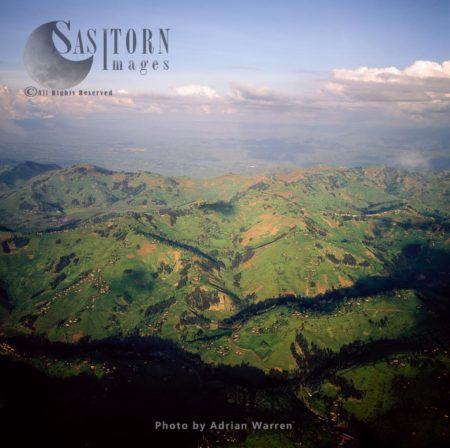 Intensive Hillside Agriculture  And Settlement On Virunga Foothills, Rwanda, East Africa