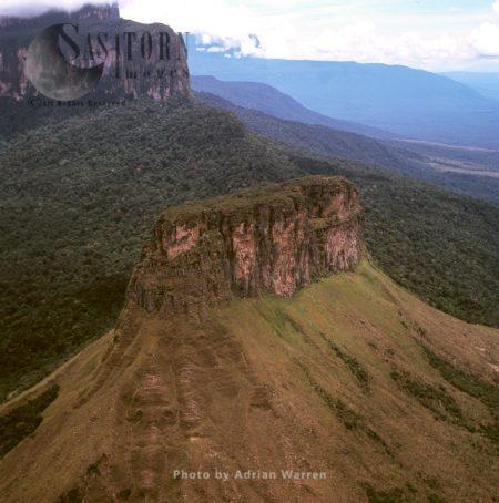 The Front Hill Part Of Acopan Tepui, Chimanta Massif, Canaima National Park, Estado Bolivar, Venezuela