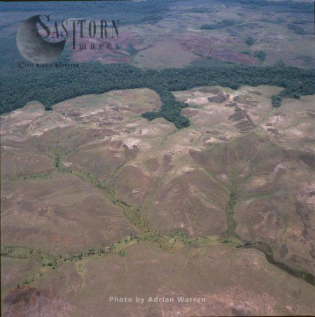Aerial View Of Gran Sabana, Tepuis, Canaima National Park, Venezuela
