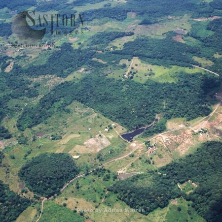 Aerial View Of Settlement South Of Puerto Ordaz, Venezuela