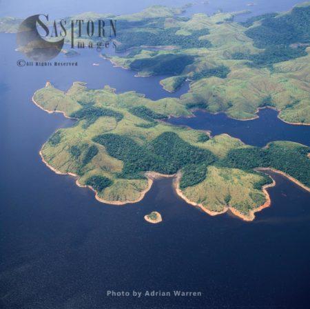 Guri Reservoir, The Largest Reservoir In Venezuela, Created By The Guri Dam, Estado Bolivar, Venezuela