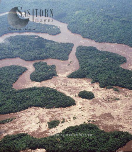 Rapids On River Caroni, Tepuis, Canaima National Park, Estado Bolivar, Venezuela