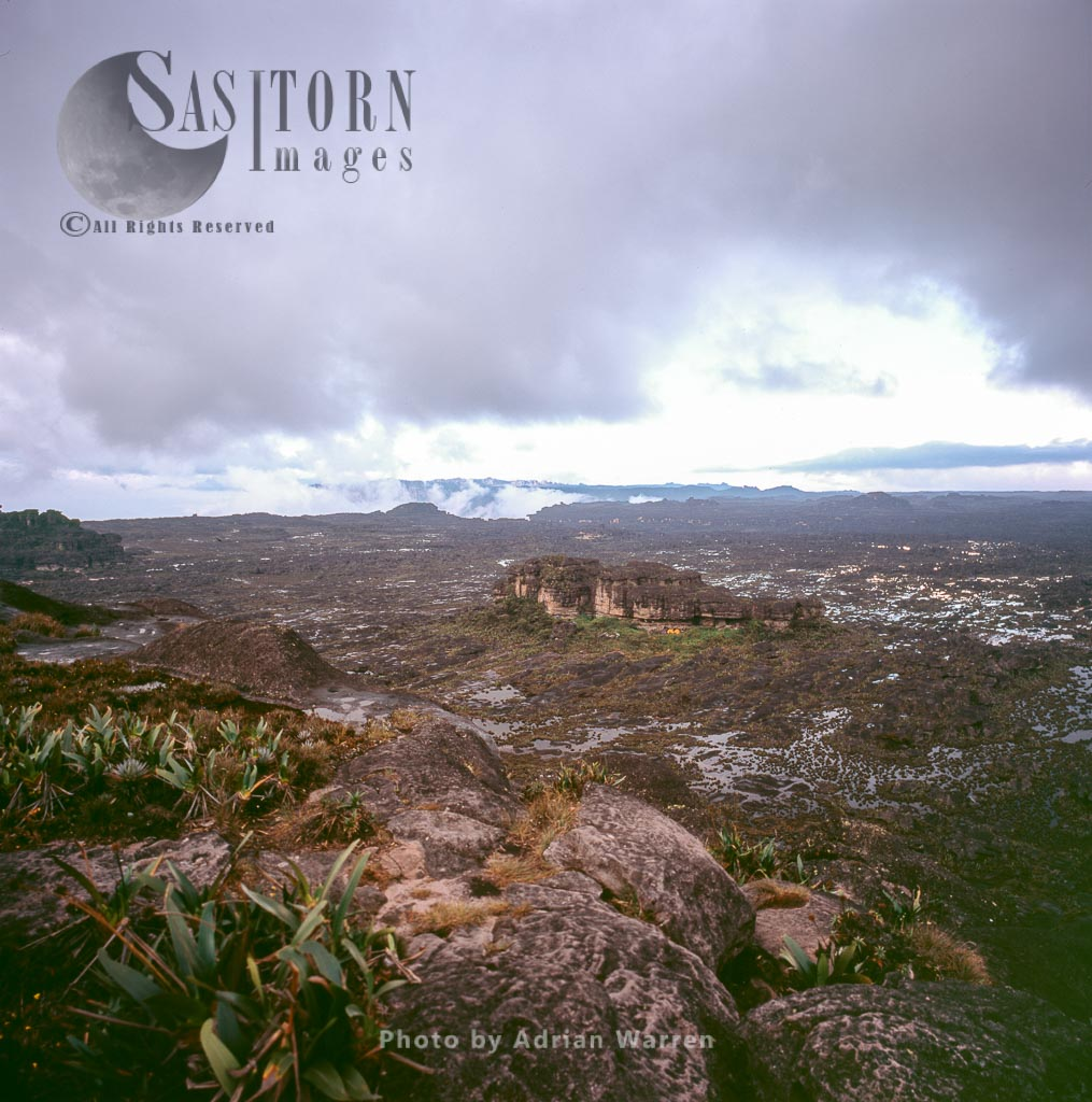 View across Roraima summit, looking north from 'the car' campsite, Canaima National Park, Venezuela