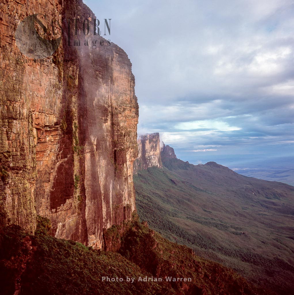 Mount Roraima, view from the ramp, half way up the wall, Canaima National Park, Venezuela