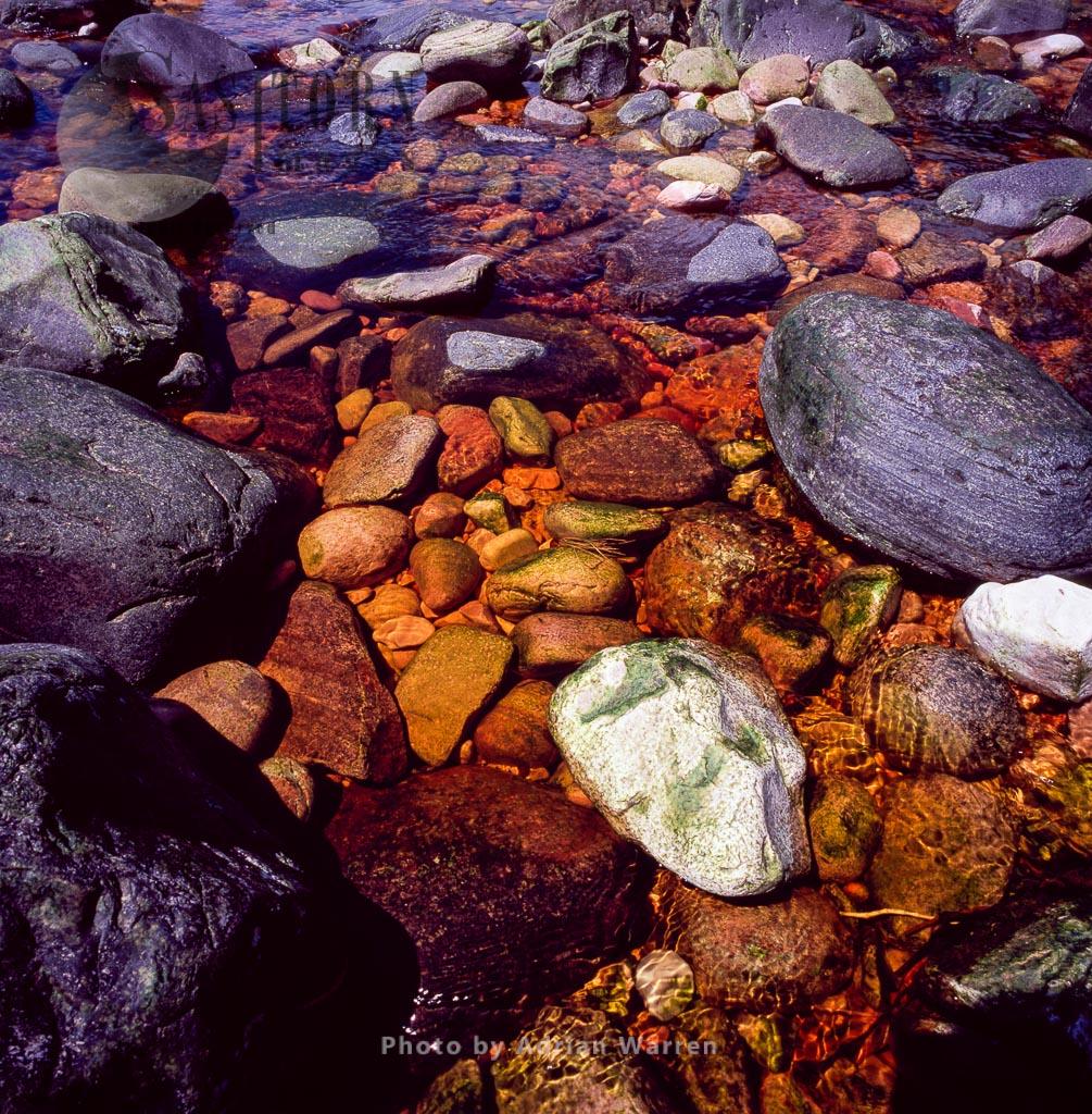 Rocks on the riverbed, Churun River, Tepuis, Canaima National Park, Estado Bolivar, Venezuela