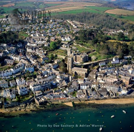 Fowey, Town And Cargo Port At The Mouth Of The River Fowey In South Cornwall