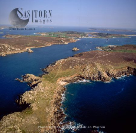 Bryher, From The Northern End With Tresco Across The Water, Isles Of Scilly