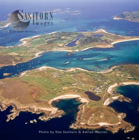 Bryher From The Western Side Wih Tresco Across The Water, Isles Of Scilly