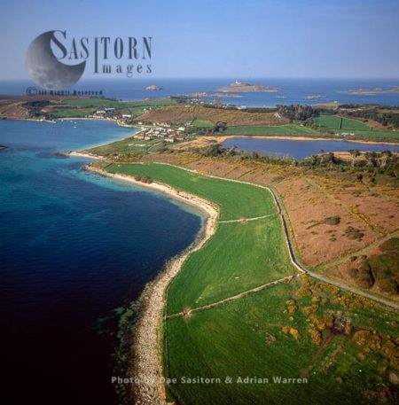 Tresco On The Western Side, With New Grimsby In Distance, Isles Of Scilly, Southwest England