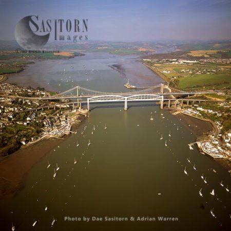 Tamar Bridge, Between Saltash, Cornwall And Plymouth, Devon, England