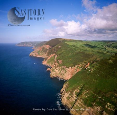 Little Hangman Cliffs, Near Combe Martin, North Devon, England