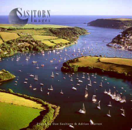 Salcombe, Kingbridge Estuary Natural Harbour, Devon, England