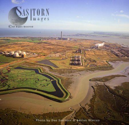 BP Oil Refinery, Wallend, Isle Of Grain, Estuary Of The River Thames, Kent