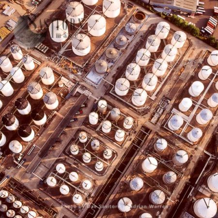 Oil Storage Depot, On The Estuary Of The River Thames, West Thurrock,  Essex