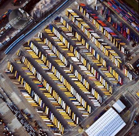 Rows Of Shipping Containers At Purfleet, On The Estuary Of The River Thames, Essex