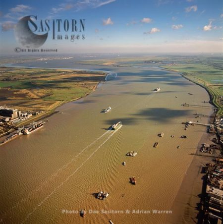 Estuary Of The River Thames Looking North East From Gravesend