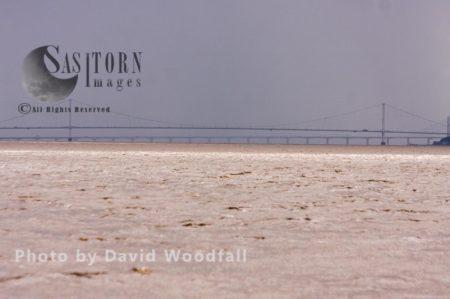 Rainstorm On Severn Estuary And First Severn Bridge