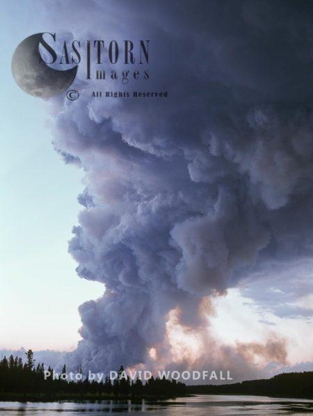 Smoke From Wildfire, Yellowstone National Park