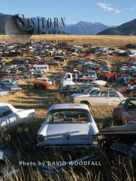 Abandoned Cars, Rocky Mountains
