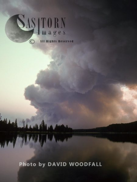 Smoke From Wildfire, Yellowstone National Park