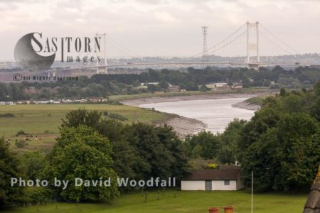 River Wye With First Severn Bridge