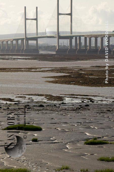 Mudflats And Second Severn Bridge Crossing