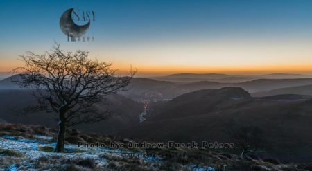 In Deep Winter At Dawn On The Long Mynd