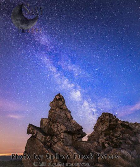 Milky Way Above Manstone Rock, Stiperstones, Shropshire