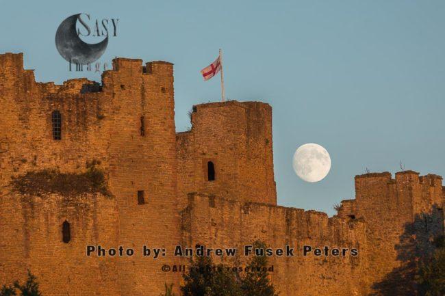 Moonrise Over Ludlow Castle
